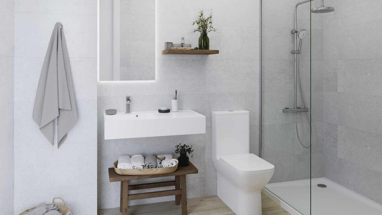 Bath A Tanzania Natural Dover Acero